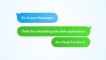 Super Messages Plantilla de Apple Motion