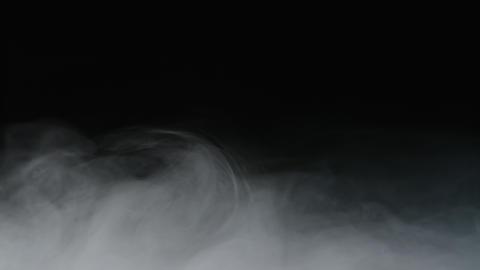 Realistic Dry Ice Smoke Clouds Fog Overlay Archivo