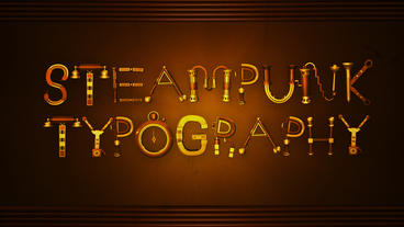Steampunk Typography After Effects Template