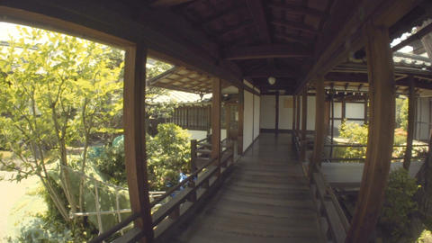 POV tour through a Japanese temple 영상물