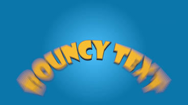Bouncy Text After Effects Template