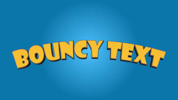 Bouncy Text After Effects Templates