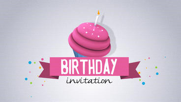 Birthday Invitation Plantilla de After Effects
