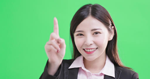 businesswoman pointing you Footage