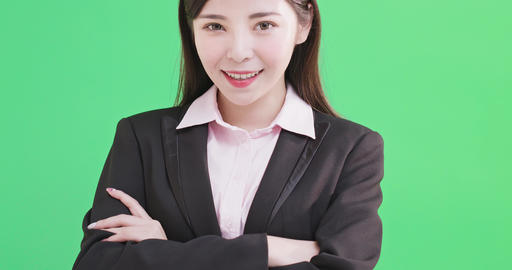 businesswoman smile to you Footage