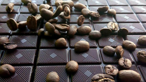 slow motion coffee beans Live Action