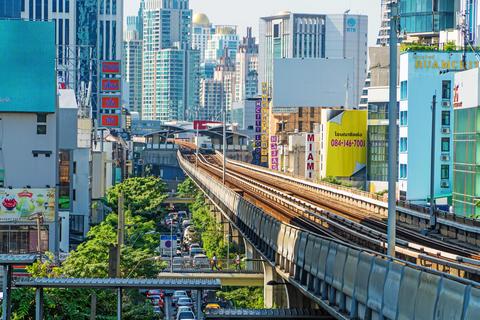 Bangkok Cityscape Business district Fotografía