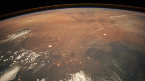 Sahara Desert and the Mediterranean from Space Footage