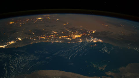Saudi Arabia and Persian Golf from Space Footage
