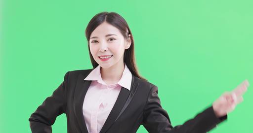 businesswoman show ok to you Footage