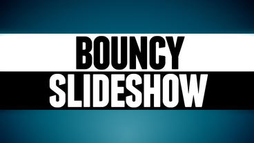 Bouncy Slideshow After Effects Template