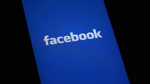FACEBOOK logo on iphone screen ライブ動画