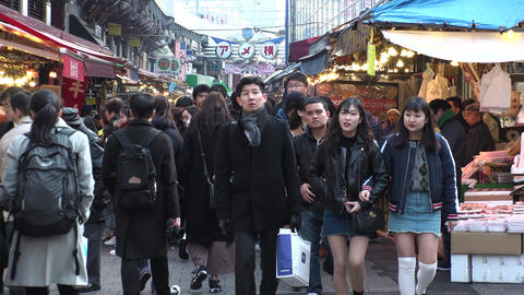 UENO, TOKYO, JAPAN - CIRCA FEBRUARY 2018 : Scenery of UENO AMEYOKO shopping 영상물