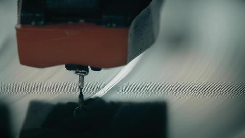 Vinyl record player needle super macro shot Footage