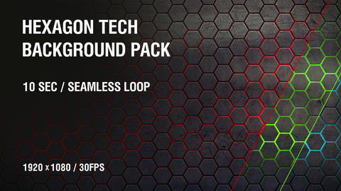 3-in-1 (FullHD) Hexagon Tech Background Pack 2 Image