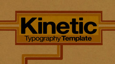 Kinetic Typography 1.0 After Effects Template