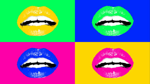 Animation of human lips in vivid colors Animation