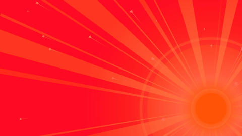 Sun Retro Backdrop with Red Rays Animation