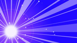 Sun Retro Background with Rainbow Rays Animation