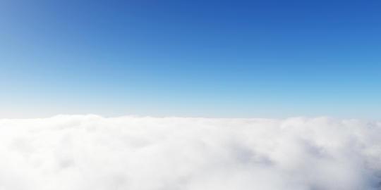 Blue sky clouds 3D render Fotografía