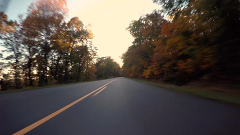 POV driving time-lapse through the mountains Live Action