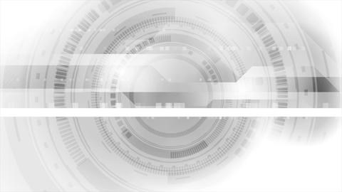 Grey abstract tech HUD interface gear video animation Animation