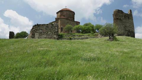 Georgian Orthodox Monastery Jvari near Mtskheta Eastern Georgia Footage