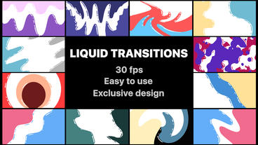 Flash FX Liquid Transitions After Effectsテンプレート