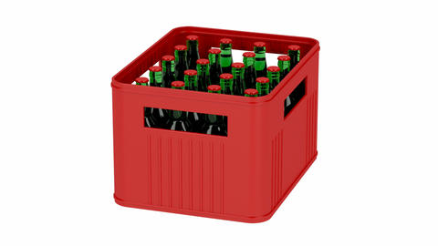 Crate with beer bottles Animation