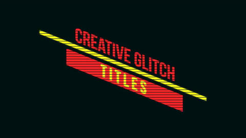 Stylish Glitch Titles After Effects Template