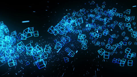 Global business network, Blue Cubes CG動画