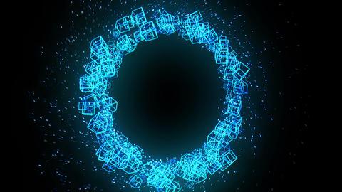 Global business network, Blue Cubes CG動画