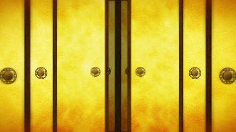 Japanese Style Fusuma Door, Sliding Door Loop Animation Animation