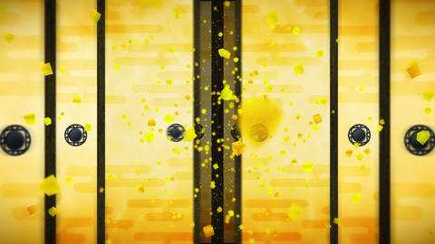 Japanese Style Fusuma Door, Sliding Door Loop Animation Animation