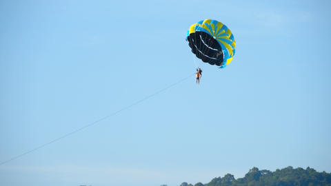 Parasailing extreme sport Footage