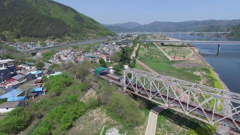Various Bridges on Nakdong River between Samrangjin and Gimhae 08 Footage