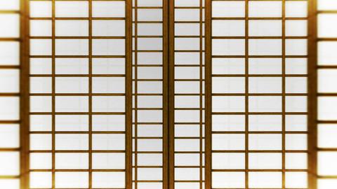 Japanese Style Shoji Door, Sliding Door Loop Animation CG動画