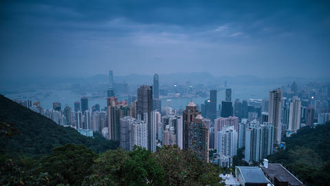 Sunset Time Lapse at Hong Kong Footage