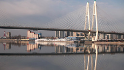 cable-stayed bridge time lapse Footage