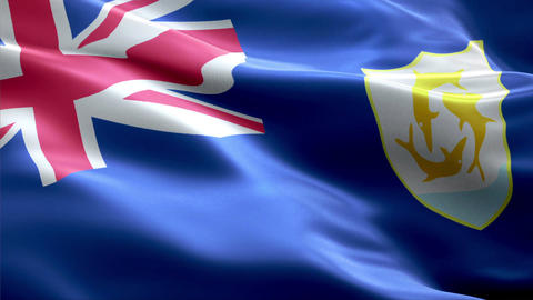 Flag Anguilla Animation