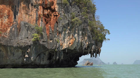 rock in the Phang Nga Bay Footage