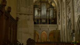 Medieval Church Organ in Church Footage