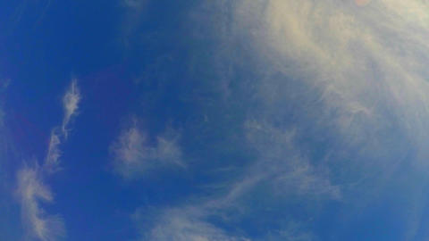 Thin Clouds On Blue Sky Footage