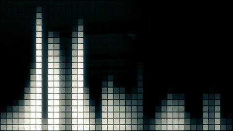Neon Tiles Wall Light 4K - Equalizer - Dark Blue Animation