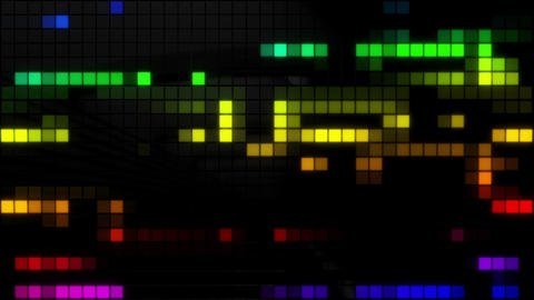 Neon Tiles Wall Light 4K - Random Patern1 - Rainbow Color CG動画素材
