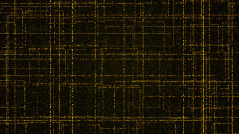 Grid of yellow glowing particles Animación