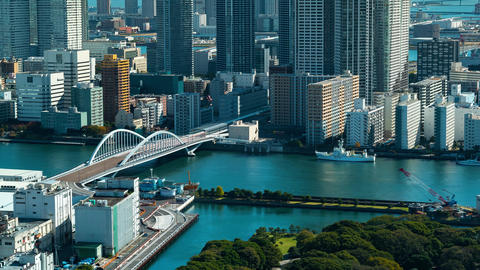 Time-lapse of Tokyo's Sumida River Footage