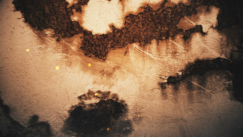 3 cinematic abstract textures. Grunge background with sparks and smoke Animation