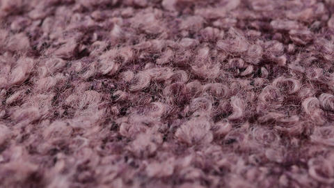 soft knitted fabric background texture, beige wool boucle, gray knitwear texture Footage