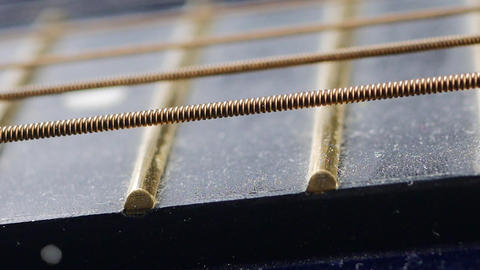 guitar strings close up Live Action